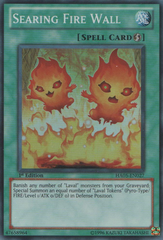 Searing Fire Wall - HA05-EN027 - Super Rare - 1st Edition