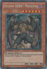 Destiny HERO - Malicious - RYMP-EN034 - Secret Rare - 1st Edition