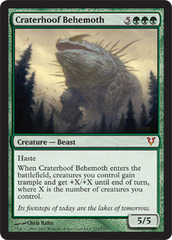 Craterhoof Behemoth - Foil on Channel Fireball