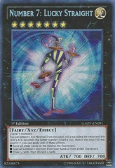Number 7: Lucky Straight - GAOV-EN091 - Secret Rare - 1st Edition