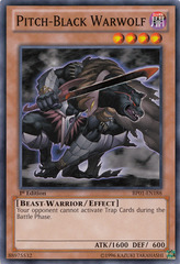 Pitch-Black Warwolf - BP01-EN188 - Common - 1st Edition