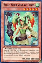 Reeze, Whirlwind of Gusto - HA06-EN012 - Super Rare - 1st Edition