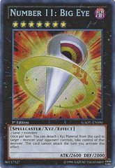 Number 11: Big Eye - GAOV-EN090 - Secret Rare - Unlimited Edition