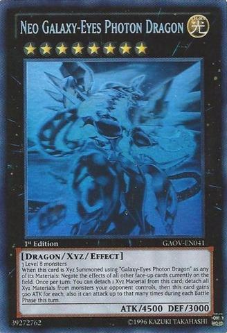 Neo Galaxy Eyes Photon Dragon Gaov En041 Ghost Rare
