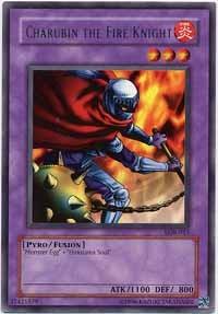 Charubin the Fire Knight - LOB-015 - Rare - 1st Edition