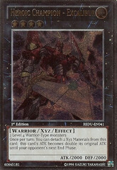 Heroic Champion - Excalibur - REDU-EN041 - Ultimate Rare - Unlimited Edition
