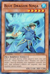 Blue Dragon Ninja - REDU-EN083 - Super Rare - Unlimited Edition on Channel Fireball