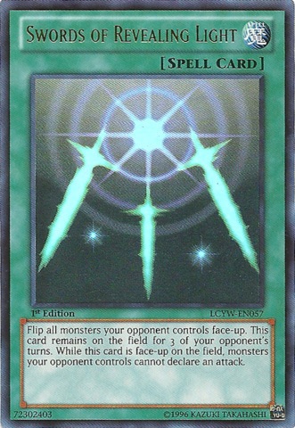 Swords of Revealing Light - LCYW-EN057 - Ultra Rare - 1st Edition - Yu-Gi-Oh Singles Legendary ...