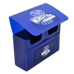 Monster Deck Box: Double Matte Blue