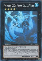 Number C32: Shark Drake Veiss - ABYR-EN039 - Ghost Rare - Unlimited Edition