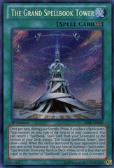 The Grand Spellbook Tower - ABYR-EN060 - Secret Rare - Unlimited Edition on Channel Fireball