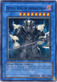 Demise, King of Armageddon - SOI-EN035 - Super Rare - 1st Edition
