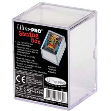 2-Piece 100 Count Clear Card Gaming Box