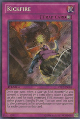 Kickfire - CBLZ-EN089 - Secret Rare - 1st Edition