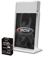 1/2 Inch Vertical Acrylic Card Holder w/ 1 in Header