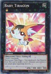 Baby Tiragon - SP13-EN027 - Starfoil Rare - 1st Edition on Channel Fireball