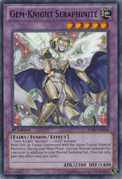 Gem-Knight Seraphinite - HA07-EN058 - Super Rare - 1st