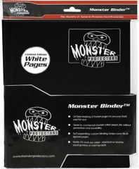 9-Pocket Monster Binder - Black w/ White pages
