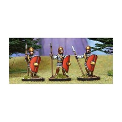 Veteran Libyan Spearmen 1. Standing, roman equipment: chainmail, oval shield (150710-0058)