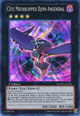 CXyz Mechquipped Djinn Angeneral - NUMH-EN036 - Super Rare - 1st Edition