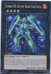 Number 105: Battlin' Boxer Star Cestus - LTGY-EN051 - Super Rare - Unlimited Edition