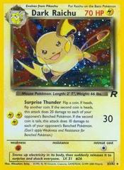 Dark Raichu - 83/82 - Secret Rare - Unlimited Edition