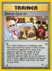 Blaine's Quiz #1 - 97/132 - Rare - Unlimited Edition