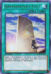 Gravekeeper's Stele - LCJW-EN261 - Ultra Rare - 1st Edition