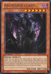 Archfiend Giant - SHSP-EN083 - Rare - 1st Edition on Channel Fireball