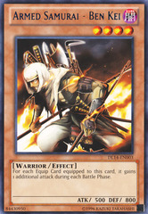 Armed Samurai - Ben Kei - Blue - DL14-EN003 - Rare - Unlimited Edition
