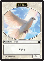 Bird Token - White on Channel Fireball