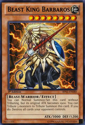 Beast King Barbaros - BP02-EN080 - Rare - Unlimited