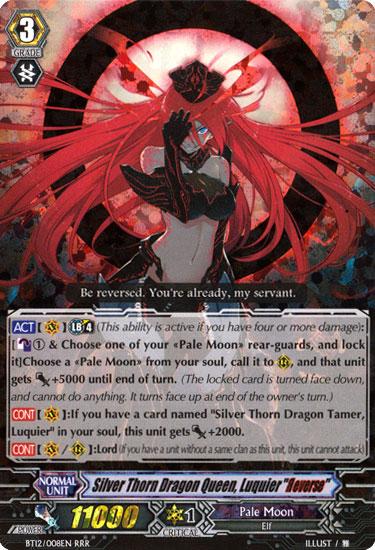 Silver Thorn Dragon Queen, Luquier Reverse - BT12/008EN - RRR