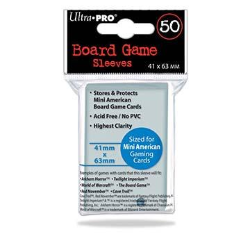Mini American Board Game Sleeves - 41mm X 63mm - 50ct