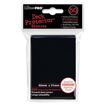 50ct Black Standard Deck Protectors