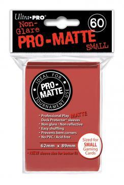 Ultra Pro Small Size Pro Matte Sleeves - Red - 60ct