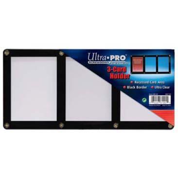 3-Card Black Frame Screwdown Holder