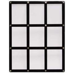 9-Card Black Frame Screwdown Holder