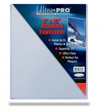 8 x 10 Ultra Pro Toploader 25ct Pack (Smaller/Thinner)