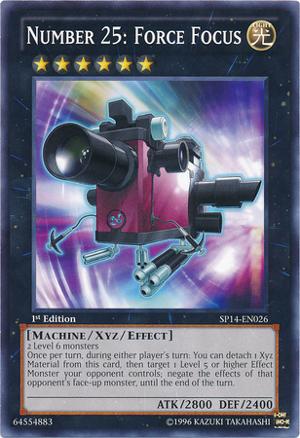 Number 25: Force Focus - SP14-EN026 - Starfoil Rare - 1st Edition