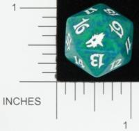 Magic Spindown Die - Scourge - Green