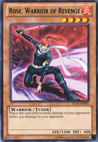 Rose Warrior of Revenge - Green - DL16-EN005 - Rare - Unlimited Edition