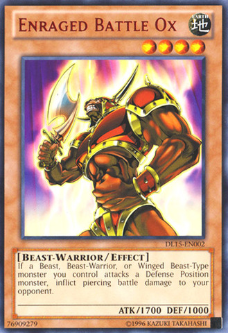 Enraged Battle Ox - Red - DL15-EN002 - Rare - Unlimited Edition