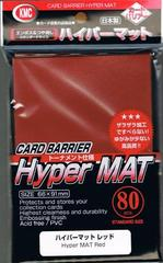 KMC Hyper Matte Sleeves - Red (80ct)