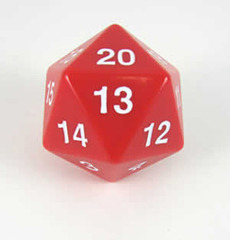 Jumbo Spindown turndown countdown D20 55mm Red