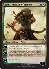 Ajani, Mentor of Heroes - Foil on Channel Fireball