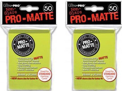 100ct Pro-Matte Bright Yellow Standard Deck Protectors