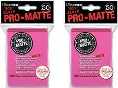 100ct Pro-Matte Pink Standard Deck Protectors