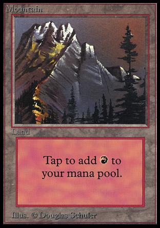 Mountain (Grey Mountain / Red Sky)