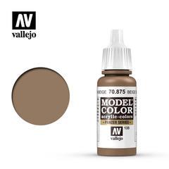 VAL70875 Vallejo Model Color Beige Brown 17ml (135)